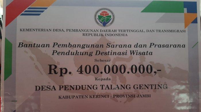 Warga Pentagen Kecewa Pemkab Kerinci Ingkar Janji, Tak Dihargai Meski Juarai Desa Wisata Nusantara