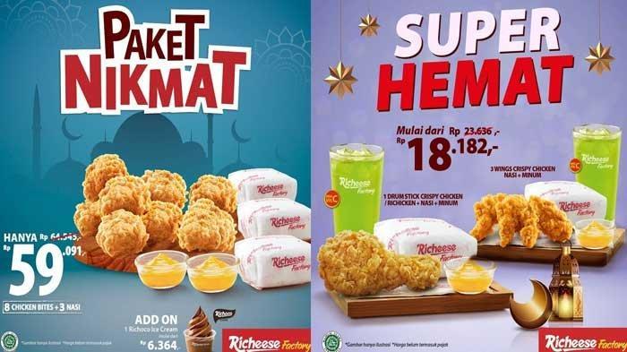 Promo Richeese Factory 11 April 2021 Paket Super Hemat Rp18.182 Paket Hemat Rp22.727 & Paket Nikmat