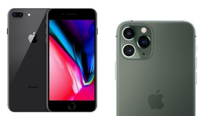 iPhone 8 plus dan iPhone 11 Pro Max