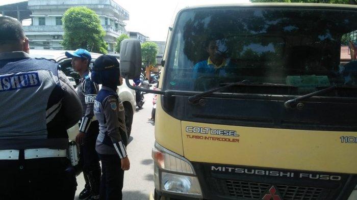 20 Mobil Angkutan Barang Terjaring Razia Gabungan Dishub dan Polresta Jambi