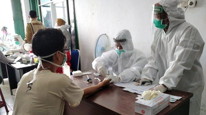 Pedagang Pasar di Sarolangun Bakal Dirapid Test Secara Acak
