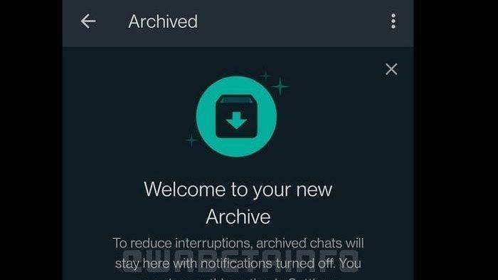 Fitur arsip chat di WhatsApp