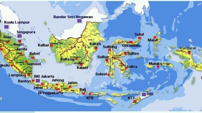 Peta Negara Kesatuan RI.