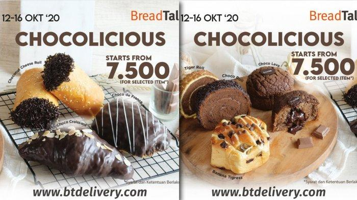 Promo BreadTalk 12-16 Oktober 2020 - Semua Roti Cokelat Rp 7.500