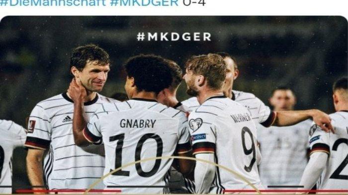 Jerman Jadi Negara Pertama Lolos ke Piala Dunia 2022 Usai Membantai Makedonia Utara 0 - 4