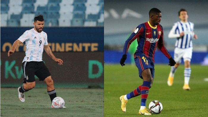 Pemain Barcelona, Sergio Aguero dan Ousmane Dembele
