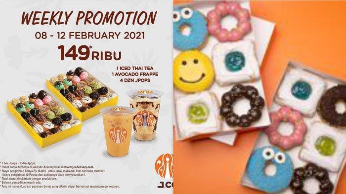 Promo Donat Dari JCO dan Dunkin Donuts Februari 2021, Beli 8 Gratis 4 Hingga Gratis 2 Minuman