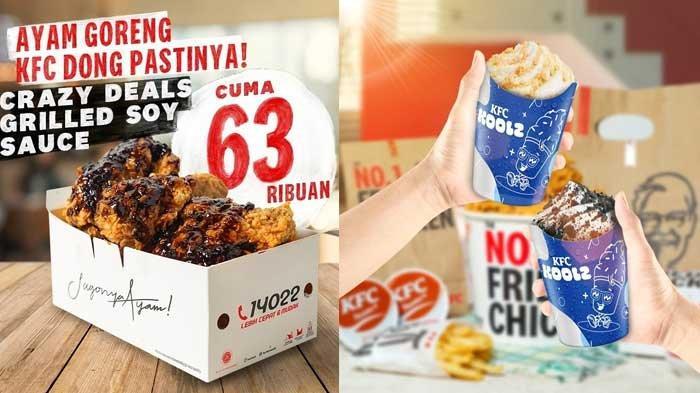 Promo KFC 12 Juli 2021 Crazy Deals Grilled Soy Sauce Rp63 Ribuan, KFC Koolz Rp13.636