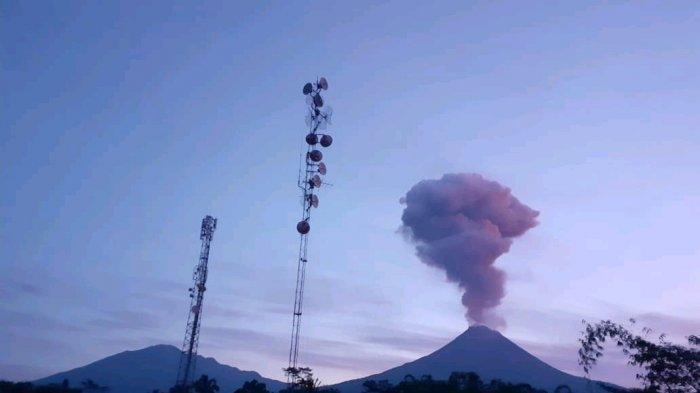 Gunung Merapi Meletus Kamis (13/2) Pagi, Kolom Abu Capai 2000 Meter, Waspada Level 2