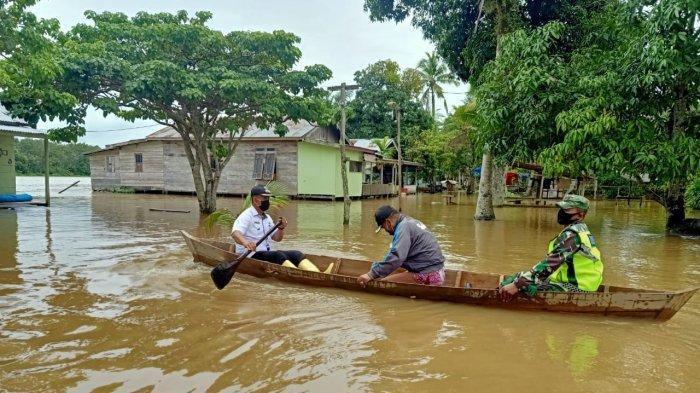 Sungai Batanghari Meluap, Belasan Rumah di Kecamatan Berbak Terdampak Banjir