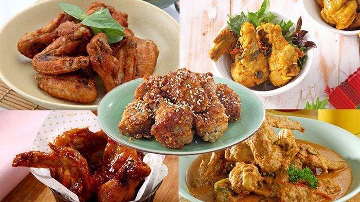Resep Serba Ayam - Sayap Ayam Lemon, Ayam Santan Masak Pedas, Sayap Ayam Oriental, Ayam Panggang