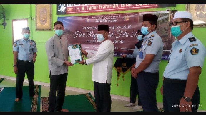 573 Warga Binaan di Lapas Jambi Terima Remisi Idul Fitri