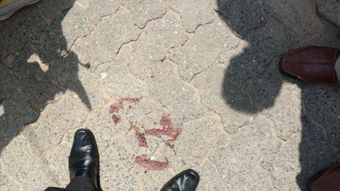 Bekas darah SPG ditusuk di depan mall Kota Jambi