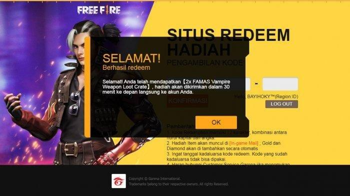 Kumpulan Kode Redeem Free Fire 21 Juni 2021 Gratis Skin hingga Bundle Lengkap Cara Klaim Kode