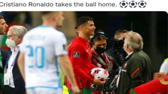Cristiano Ronaldo cetak tiga gol dalam enam menit, wasit Benoit Bastien minta ulangi gol, Portugal tak kenal ampun di Kualifikasi Piala Dunia 2022.