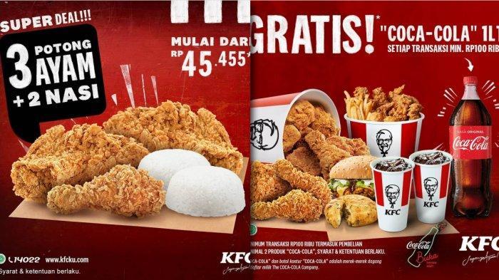 Promo KFC 12-15 November 2020 - Super Deal 3 Ayam dan 2 Nasi Rp 45.455, Gratis Coca-cola 1 Liter