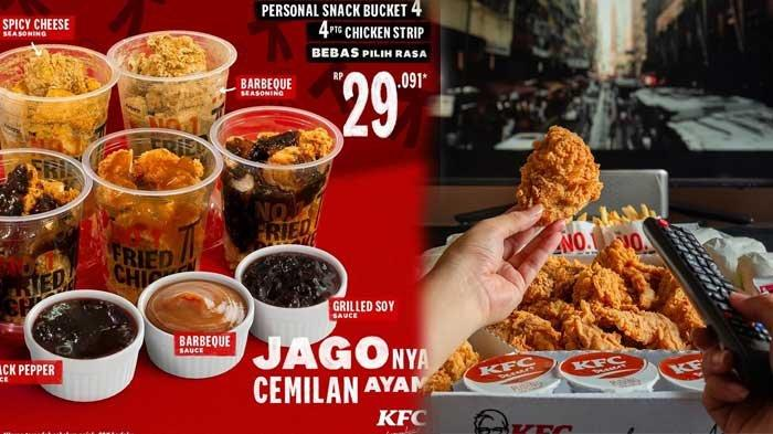 Promo KFC Hari Ini 13 April 2021 Ada 3 Krispy Burger Rp54.545 Snack Bucket Rp29.091