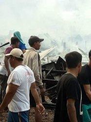 14 Rumah Terbakar di Mendahara, Tanjung Jabung Timur, Camat Pastikan Tidak Ada Korban Jiwa