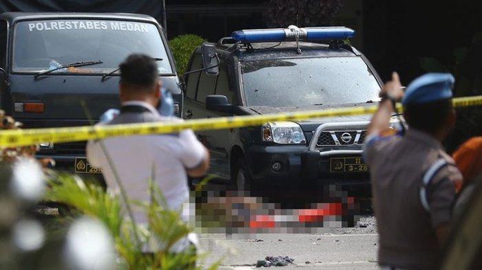 Pelaku Bom Bunuh Diri di Polrestabes Medan Lilitkan Bom di Pinggang hingga Identitas Korban