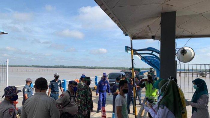 VIDEO 15 Pemudik dari Batam Berlabuh Masuk Jambi via Kuala Tungkal, Dibawa ke Mapolres