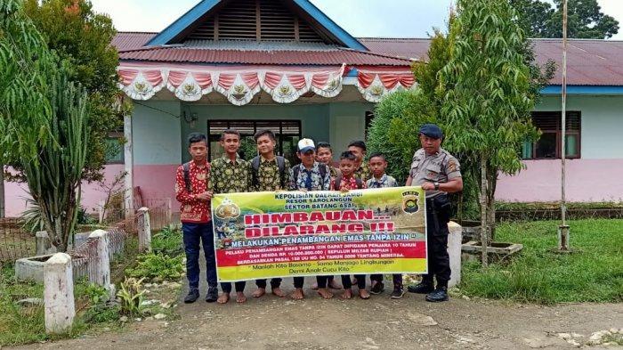 Hentikan PETI Merajalela di Sarolangun, Polsek Batang Asai Sosialisasi ke Sekolah