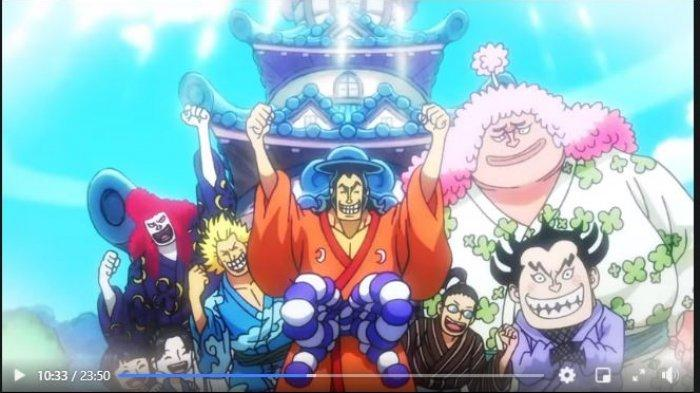 Anime One Piece 962 Terdamparnya Bajak Laut Shirohige - Ozen Selamatkan Kawamatsu, Neko, Inuarashi