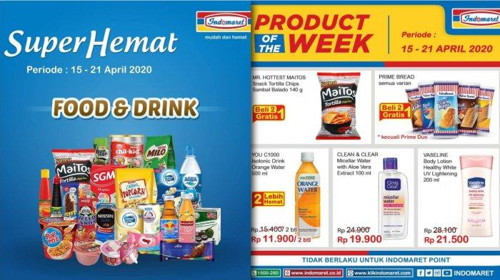 Promo Indomaret 15 21 April 2020 Super Hemat Food Drink Personal Home Care Product Of The Week Tribun Jambi
