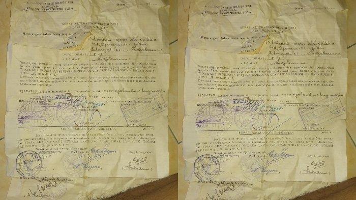 Sebuah surat yang menyatakan bersih diri dari peristiwa G30S PKI viral di media sosial