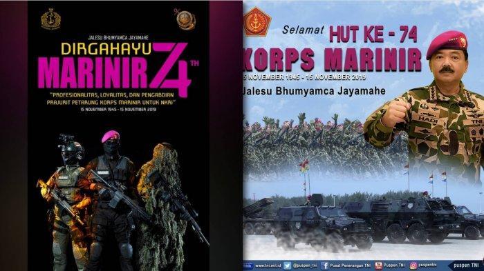 15 November HUT Korps Marinir - Sejarah Terbentuknya Pasukan Baret Ungu TNI AL