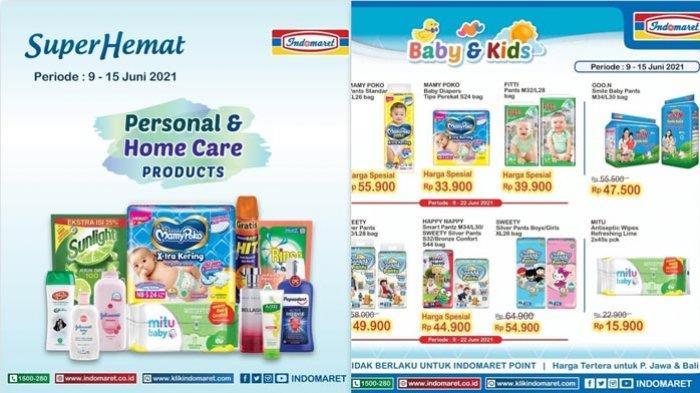 Promo Indomaret Hari Ini 15 Juni 2021 Super Hemat Diapers Produk Kecantikan Detergen Snack Susu DLL