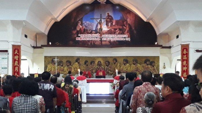 Tahun Baru Imlek, Ini Pesan Jemaat dan Romo di Gereja Katolik St Theresia