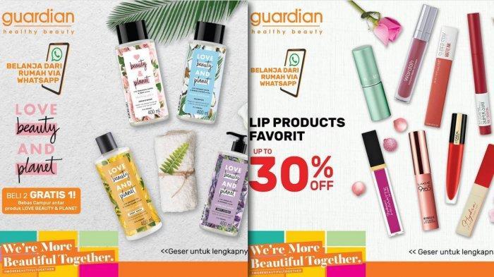 Promo Guardain 16-29 April 2020 - 2 Gratis 1, Lip Diskon 30%, Skincare 35%, Eyebrow & Eyeliner