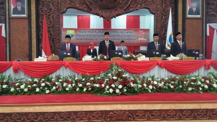 Rapat Paripurna DPRD Provinsi Jambi, Mendengarkan Pidato Kenegaraan Presiden Jokowi