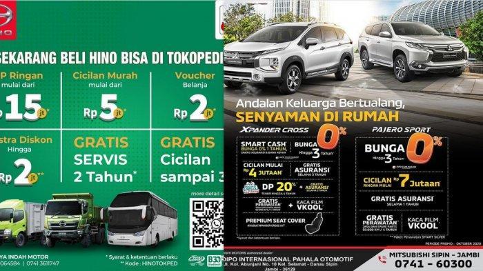 Promo Mobil Baru Oktober 2020 di Jambi - Mitsubishi Bunga 0% Hino DP Ringan Daihatsu DP Rp 12 Jutaan