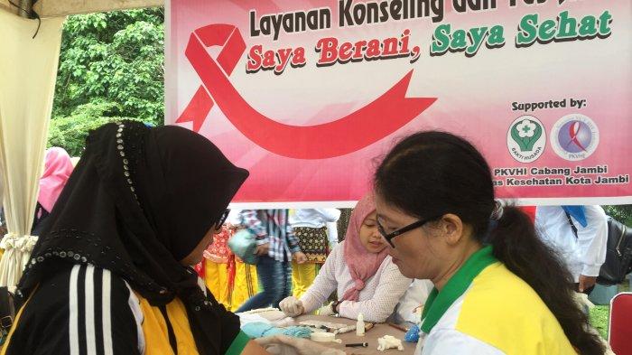 Peringati HKN ke 53 Dinkes Kota Jambi Lakukan Tes HIV