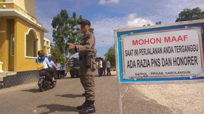 Banyak Pegawai Tinggalkan Kantor untuk Urusan Pribadi, Satpol PP Sarolangun Gelar Razia
