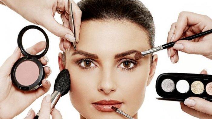 ilustrasi peralatan make up