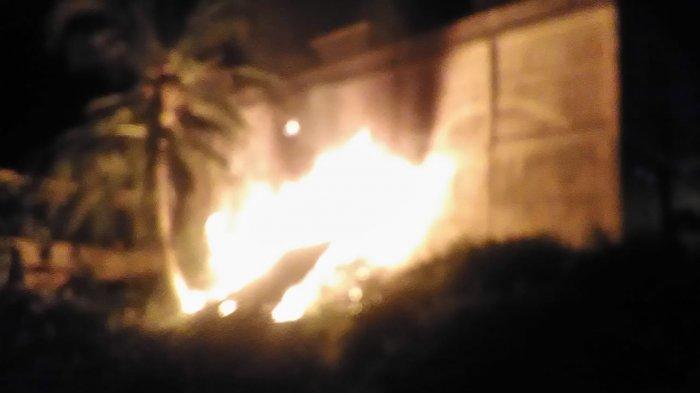 Ruko di Tebo Tengah Terbakar Malam Ini