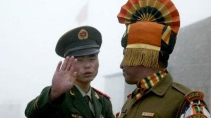 Serdadu China dan India (foto arsip).