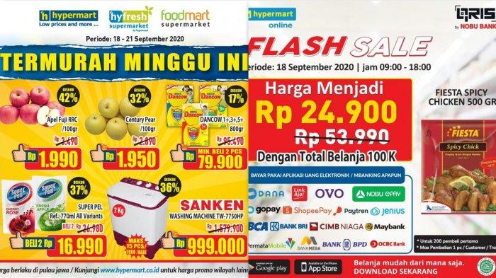 Katalog Promo Jsm Hypermart 18 21 September 2020 Flash Sale Elektronik Pesial Ovo Susu Anak Buah Tribun Jambi