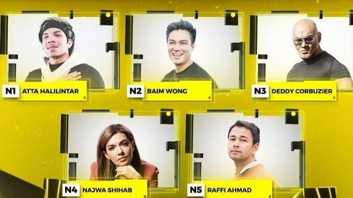Najwa Shihab, Deddy Corbuzier, Raffi Ahmad, Baim Wong dan Atta Bersaing di ITA 2021