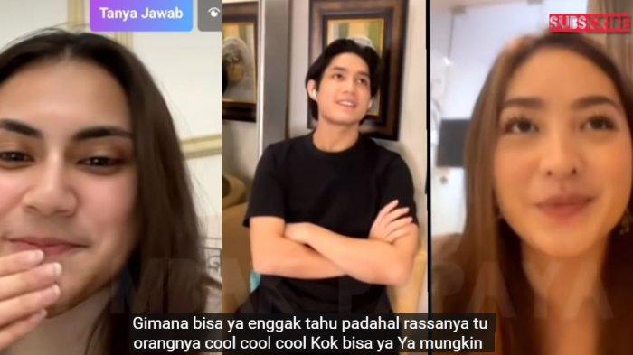 Natasha Wilona live Instagram bareng Teuku Rassya dan Elina Joerg.