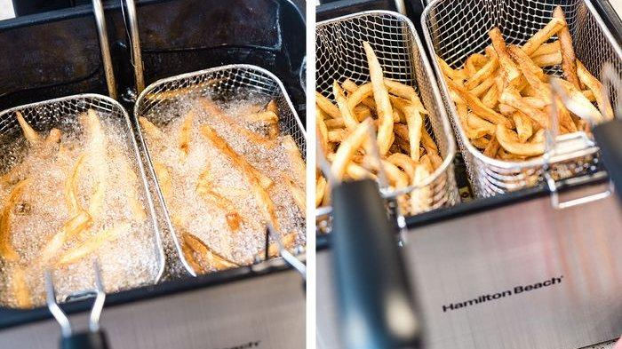Ilustrasi tutorial cara membuat kentang goreng renyah