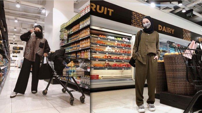 Inspirasi Outfit Hijab, Tampil Modis di Supermarket Ala Selebgram Soraya Ulfa