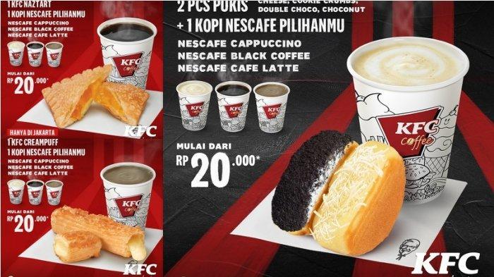 Promo KFC 5 Ayam Goreng dan 3 Nasi Rp 68 Ribuan, Kombo Coffee KFC Mulai Dari Rp20.000