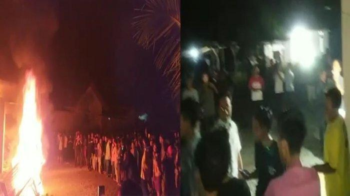 tuasi Mapolsek Candipuro yang dibakar massa, Selasa (18/5/2021) tengah malam.