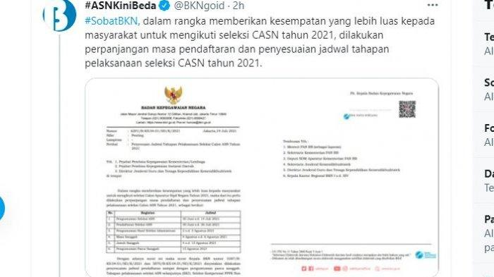 Cara Cek Lulus Selesi Administrasi CPNS 2021 Jadwal Pengumuman Mulai 2 Agustus 2021