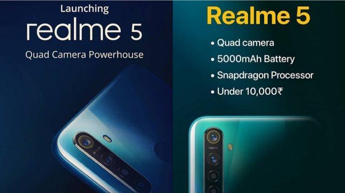 Spesifikasi dan Harga Realme 5 Terbaru Agustus 2019, Sensor Sony IMX586, Kamera Depan 16 Mp