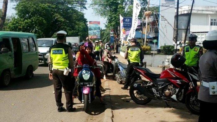 2 Unit Motor Diamankan, Razia Operasi Patuh 2019 Satlantas Polresta Jambi, 57 Pengendara Ditilang