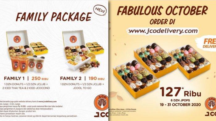 Promo J.Co sampai 31 Oktober 2020 - 6 Dozin JPops hanya Rp 127 Ribu, Family Package dan Promo Kopi
